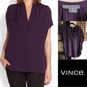 Vince Silk Dolman Sleeveless blouse shell